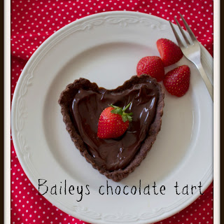 Baileys Chocolate Hearts Tarts
