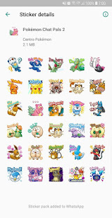 Pokémon Stickers for WhatsApp 2