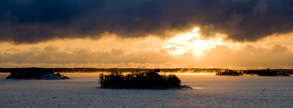Photo: The archipelago on a freezing cold morning near Turku, Finland