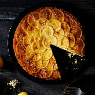 Meyer Lemon Cornmeal Upside-Down Cake