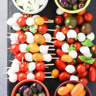 Colorful Caprese Appetizer Tray.