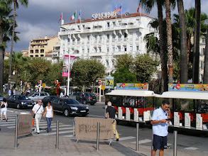 Photo: The Cannes waterfront has quite a number of very upscale hotels.