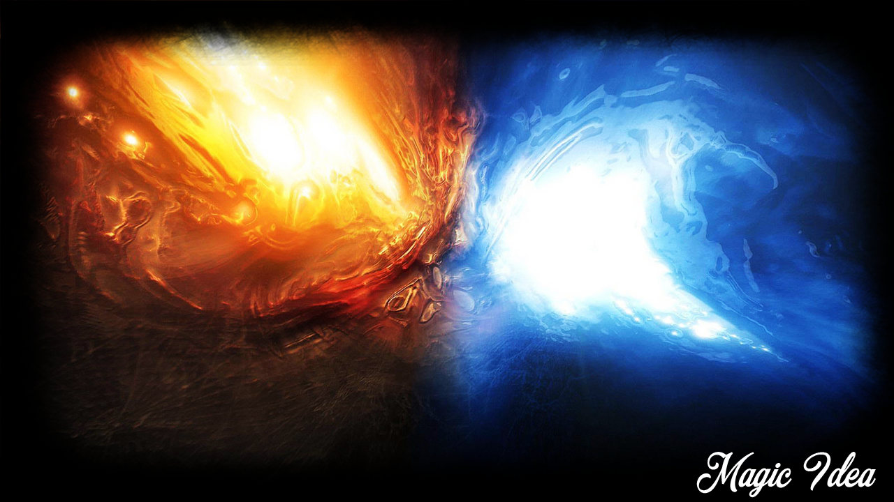 Fire and ice fractal abstract wallpaper hd wallpapers - Fire Ice Pack 2 Wallpaper Screenshot