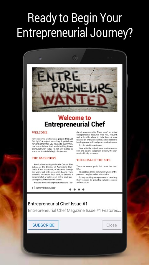 Entrepreneurial Chef- screenshot