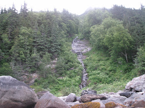 Photo: A waterfall in Chilkoot Inlet.