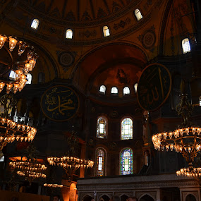 Inside the Hagia Sophia by Azzah Rahman - Buildings & Architecture Public & Historical ( hagia sophia, mosque, istanbul, turkiye, aya sofia )
