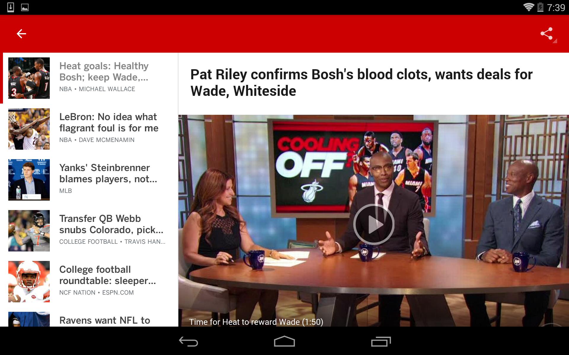 ESPN screenshot #14
