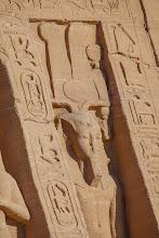 Photo: ABu Simbel - temple of Nefertari, statue of Ramses II