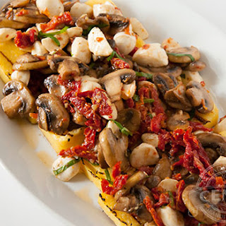 Grilled Polenta with Mushrooms,.