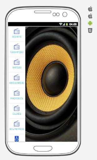 music of the 80´s. music and radio stations 80´s. screenshot 2