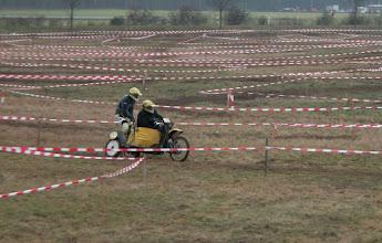 Photo: Andreas Huth auf dem VMC Yamaha Gespann vergangener Tage bei der Klassikfahrt in Pfungstadt