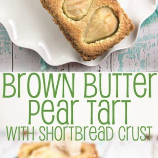 Brown Butter Pear Tart with Shortbread Crust