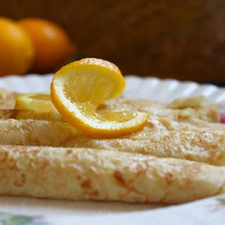 Traditional British Shrove Tuesday Pancakes.