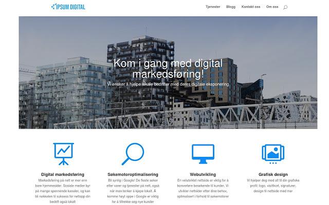 Digitalt markedsføringsbyrå - Ipsum Digital