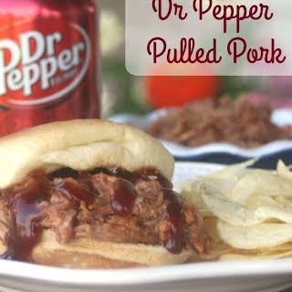Slow Cooker Dr Pepper Pulled Pork.