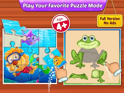 Puzzle Kids - Animals Shapes and Jigsaw Puzzles Screenshot