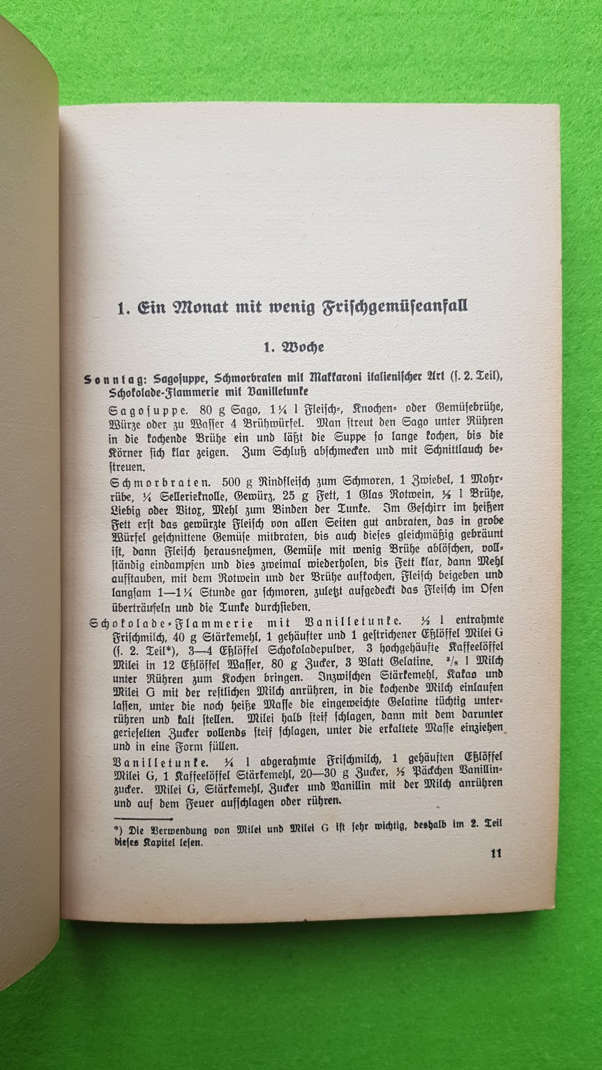 Eugen Bechtel, Nahrhaft, schmackhaft kochen - auch im Krieg!, 1940 - Winter-Speisezettel