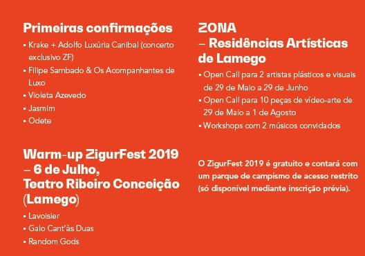 Já são conhecidas as primeiras novidades do ZigurFest 2019