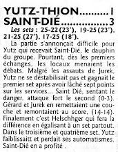 Photo: 19-11-2011 R1M l'ASVB arrache un set à Saint-Dié mais s'incline finalement 1-3