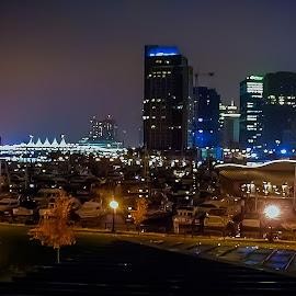 Vancouver Skyline by Joseph Vittek - City,  Street & Park  Night