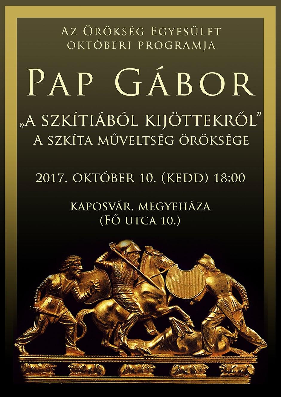 Pap Gábor előadás plakát 2017