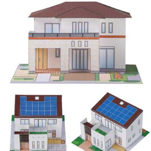 how to make house models with paper