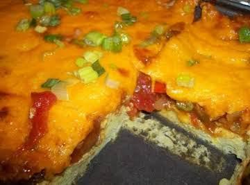 Mexican Cheese Tomato & Eggs Bake