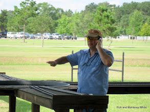 Photo: Jim Cash on the phone with work.  HALS 2009-0620