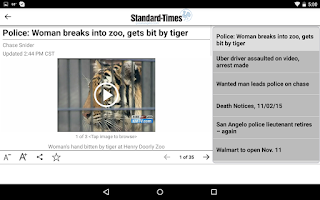 Screenshot of San Angelo Standard-Times