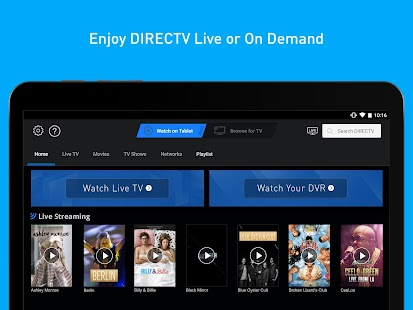 DIRECTV for Tablets Screenshot