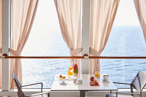 Start your day at the poolside Grill on Silver Muse.