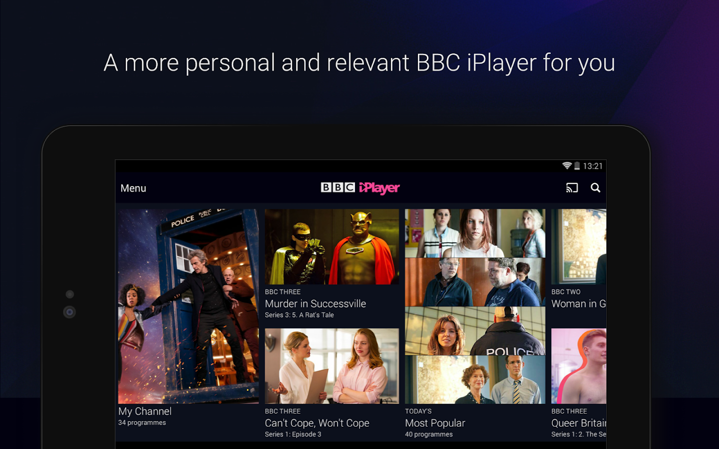 BBC iPlayer- screenshot
