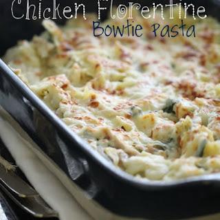 Chicken Florentine Bowtie Pasta.