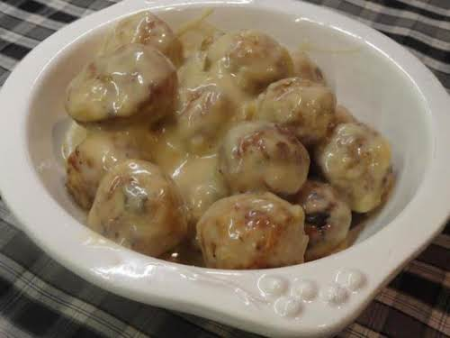 "French Onion Meatballs ""I made these on New Year's Eve and they..."