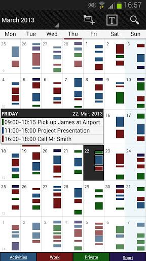 Business Calendar Beta screenshot 1