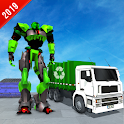 Garbage Truck Robot Transform City Trash Cleaner icon