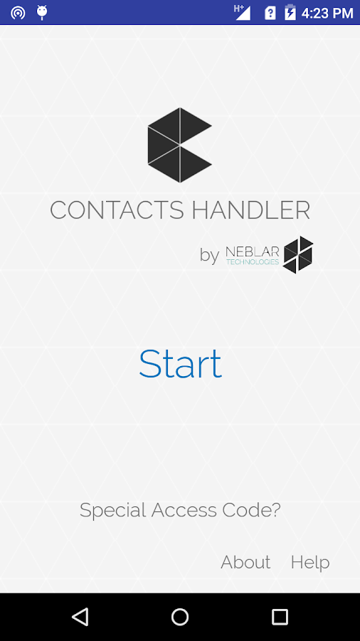 Contacts Handler- screenshot