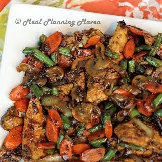 One Pan Honey-Balsamic Chicken 'n Vegetables.