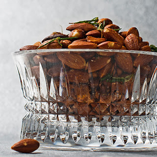 Roasted Almonds with Crispy Herbs.