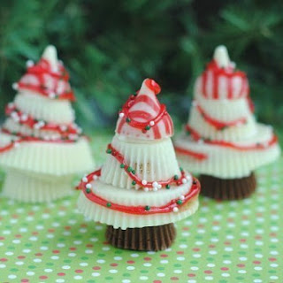 No Bake White Chocolate Christmas Trees