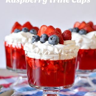 Raspberry Trifle Cups