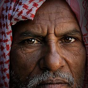 Abu Ali by Leyon Albeza - People Portraits of Men ( senior citizen, pwcfaces-dq, face, people,  )
