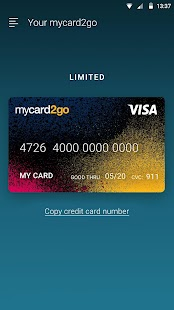 mycard2go Prepaid Visa Card- screenshot thumbnail