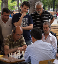 Photo: Playing chess in Plaza de Armas