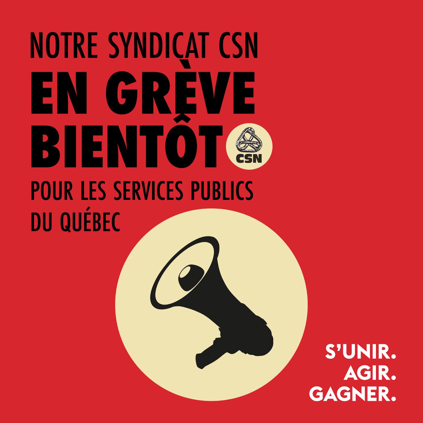 Assemblées générale spéciale vote de grève - avril 2021