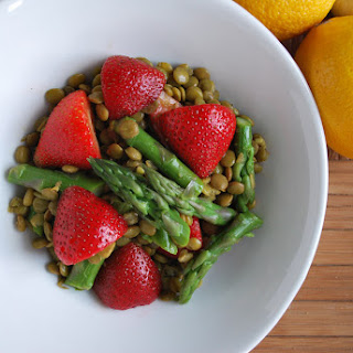 Summer Salad of Lentils, Asparagus and Balsamic Braised Figs