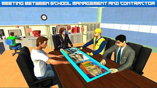 High School Building Design - Construction Games 1.3 screenshots 1