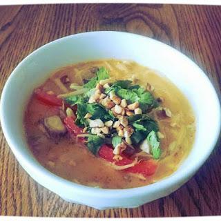 Thai Peanut Chicken Noodle Soup.