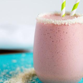 Coconut Strawberry Protein Shake.
