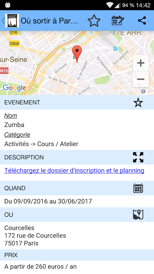 Où sortir à Paris ?- screenshot